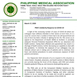 PMA Solidarity Response to COVID-19
